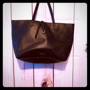 Large Victoria Secret black leather bag